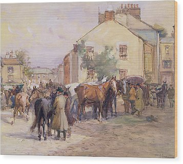 The Horse Fair  Wood Print by John Atkinson