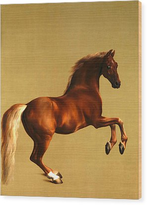 The Horse Wood Print by George Stubbs