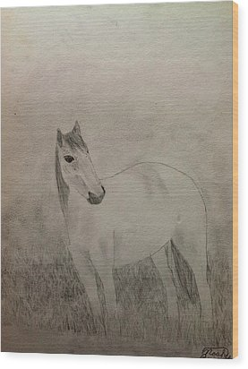 The Horse Wood Print by Noah Burdett