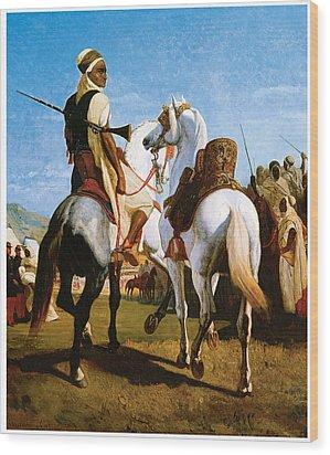 The Horse Of Gaada Wood Print by Eugene ginain