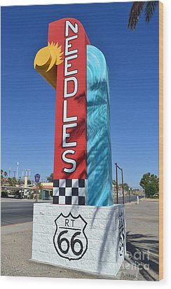 Wood Print featuring the photograph The Hottest Spot On Route 66 by Utopia Concepts