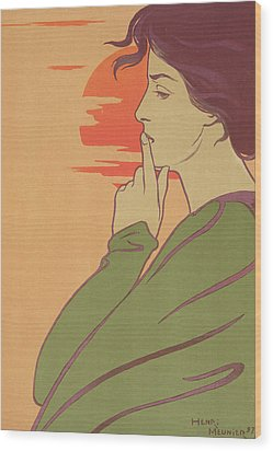The Hour Of Silence Wood Print by Henri Georges Jean Isidore Meunier