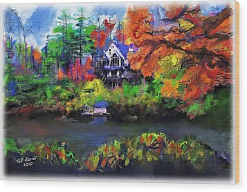 The House At Highlands Wood Print by Ted Azriel
