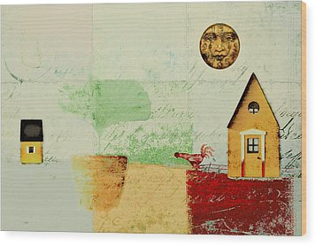 The House Next Door - J191206097-c4f1 Wood Print by Variance Collections
