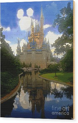 The House Of Cinderella Wood Print