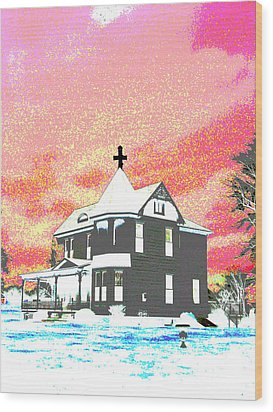 The House Of Haunted Hill Wood Print by Jimi Bush