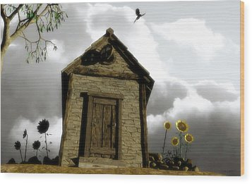 The House Of Light And Shadow Wood Print by Cynthia Decker