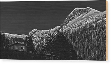 The House On The Hill. Wood Print by Timothy Latta