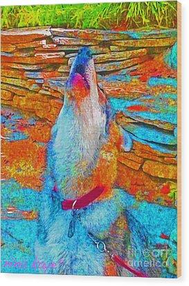 The Howling # 4338 Wood Print by Nina Kaye