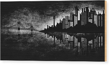 The Hubris Of Mankind Bw Wood Print by Angelina Vick