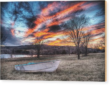 The Humble Boat Wood Print by William Fields