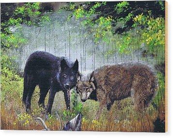 The Hunt Wood Print