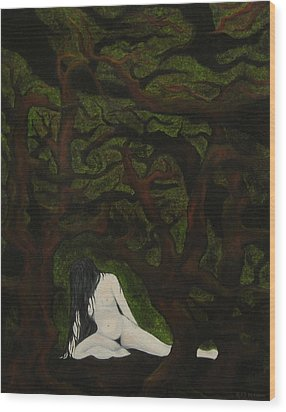 The Hunter Is Gone Wood Print by FT McKinstry