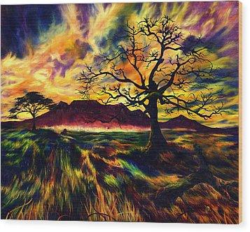 The Hunter Wood Print by Kd Neeley