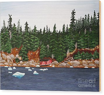The Ice Took It Wood Print by Barbara Griffin