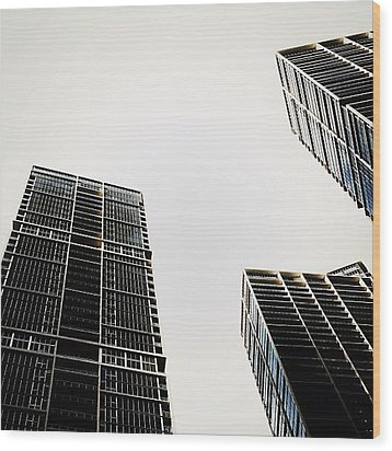 The Icon Bldg. Complex - Miami Wood Print