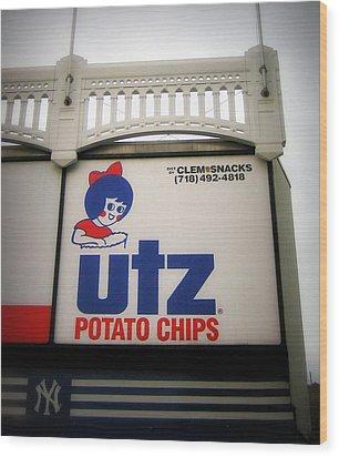 The Iconic Utz Sign Wood Print by Aurelio Zucco