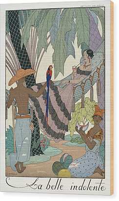 The Idle Beauty Wood Print by Georges Barbier