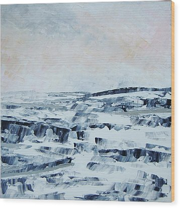 The Idle Rocks Wood Print by Sally Kelly