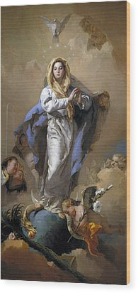 The Immaculate Conception Wood Print by Giovanni Battista Tiepolo