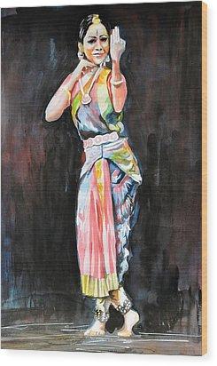 The Indian Dancer Wood Print