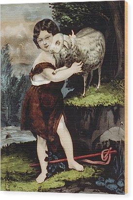 The Infant Saint John Wood Print by Aged Pixel