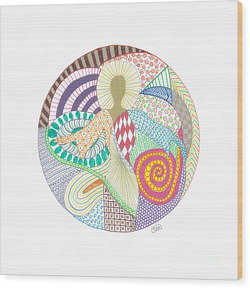 The Inner Goddess Wood Print by Signe  Beatrice