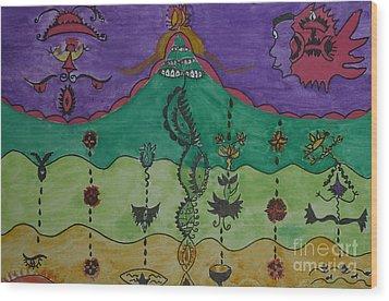 The Inner Life Wood Print by Lola Nunez