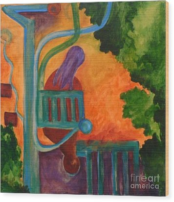 The Inspiration- Caprian Beauty Series 2 Wood Print by Elizabeth Fontaine-Barr