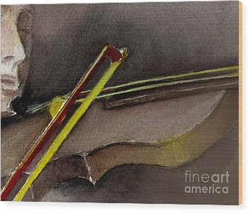 Wood Print featuring the painting The Instrument  by Allison Ashton