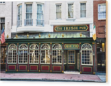 The Irish Pub - Philadelphia Wood Print by Bill Cannon