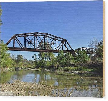 The Iron Bridge Wood Print by Cherie Haines