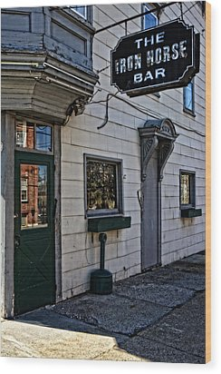 The Iron Horse Bar Wood Print by Mike Martin