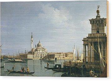 The Island Of San Giorgio Maggiore Wood Print by Canaletto