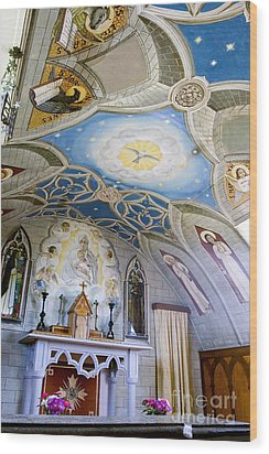 The Italian Chapel Mural Orkney Wood Print by Tim Gainey