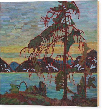 The Jack Pine After Tom Thomson Wood Print by Betty-Anne McDonald
