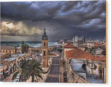 the Jaffa old clock tower Wood Print by Ronsho