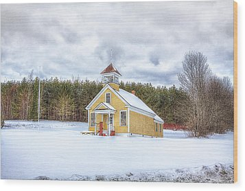 The James School Wood Print by Gary Smith