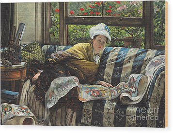 The Japanese Scroll Wood Print by Tissot