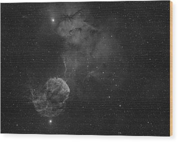 The Jellyfish Nebula Wood Print by Brian Peterson