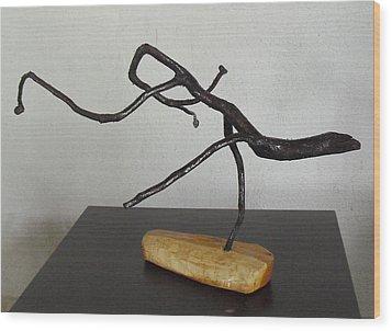 The Jesus Christ Lizard Wood Print by Vele Bezzo