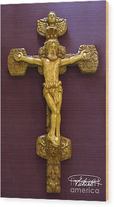 The Jesus Christ Sculpture Wood Work Wood Carving Poplar Wood Great For Church Wood Print by Persian Art