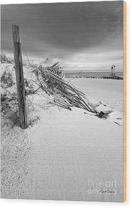The Jetty Wood Print by Michelle Wiarda