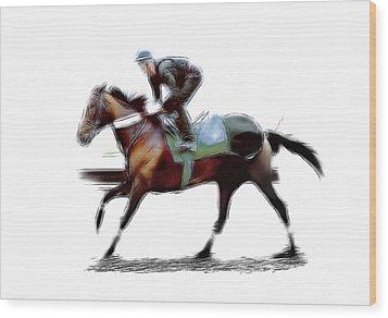 The Jockey Wood Print by Steve K