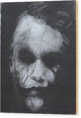 The Joker Wood Print by Aaron Balderas