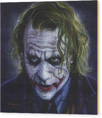 The Joker Wood Print by Tim  Scoggins