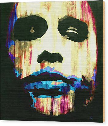 The Joker Why So Serious Wood Print by Brad Jensen