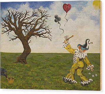 The Jokers Wild Wood Print by Susan Culver