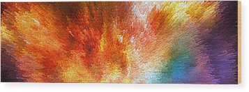 The Journey - Abstract Art By Sharon Cummings Wood Print by Sharon Cummings