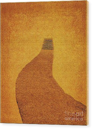 The Journey Pathway Minimalism Wood Print